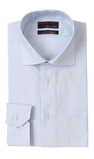 オールシーズン用 ブルー系 ワイドカラースタイリッシュワイシャツ 業界No.1 MODA RITORNO 大規模セール