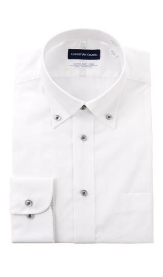 盛夏用 ☆国内最安値に挑戦☆ ホワイト系 ボタンダウンスタンダードワイシャツ Smart Cool 在庫一掃 Biz ORANI CHRISTIAN