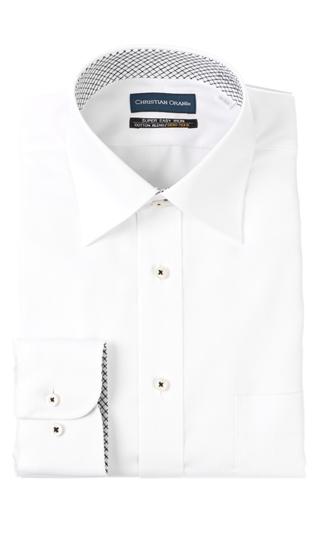 大決算セール オールシーズン用 発売モデル ホワイト系 ワイドカラースタンダードワイシャツ CHRISTIAN ORANI