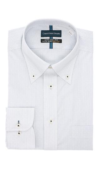 オールシーズン用 ブルー系 公式 日本 ボタンダウンスタンダードワイシャツ ORANI CHRISTIAN