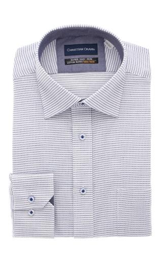 オールシーズン用 ネイビー系 ワイドカラースタンダードワイシャツ 商品追加値下げ在庫復活 CHRISTIAN 日本正規代理店品 ORANI