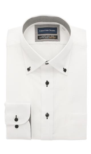 オールシーズン用 ホワイト系 ボタンダウンスタンダードワイシャツ CHRISTIAN 公式通販 日本 ORANI