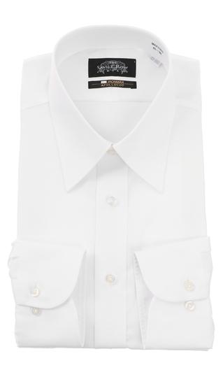 オールシーズン用 ホワイト系 レギュラーカラースタンダードワイシャツ【NON IRONMAX】【キング&トール】 Savile Row