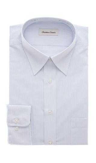 オールシーズン用 入手困難 ブルー系 レギュラーカラースタンダードワイシャツ ORANI マーケティング CHRISTIAN