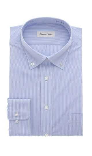 オールシーズン用 ブルー系 ボタンダウンスタンダードワイシャツ 全国一律送料無料 CHRISTIAN 着後レビューで 送料無料 ORANI