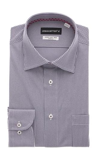 オールシーズン用 まとめ買い特価 パープル系 ワイドカラースタイリッシュワイシャツ ニット素材 送料無料激安祭 SETTER BLACK URBAN