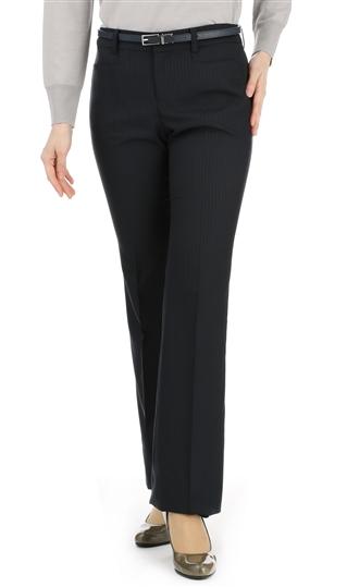 オールシーズン用 ネイビー系 セミフレアパンツ セット着用可 低価格化 ANCHOR 卸直営 WOMAN ウォッシャブル PERSON'S