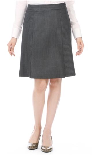 オールシーズン用 グレー系 【セットアップ対応】【ストレッチ】Aラインプリーツスカート n-line Precious