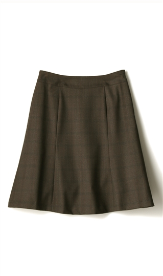 n-line オールシーズン用 ブラウン系 Precious フレアスカート【セット着用可】