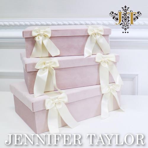 高価値 ボックス 小物入れ 3点セット 3P ジェニファーテイラー Jennifer Taylor Velours インテリア ピンク 輸入家具 PK 送料無料 BOX3Pセット 輸入雑貨 誕生日プレゼント