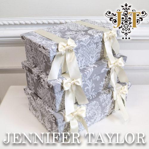 ボックス 3Pセット ボックスセット 小物入れ インテリア 雑貨 Raffine ※ラッピング ※ ジェニファーテイラー Taylor 輸入雑貨 BOX3Pセット Jennifer 輸入家具 Raffine-GR 気質アップ 送料無料