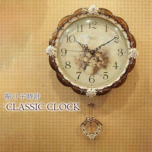 クラシック時計 クラシカルウッドクロック(ブラウン) 時計 壁掛け おしゃれ ウォールクロック