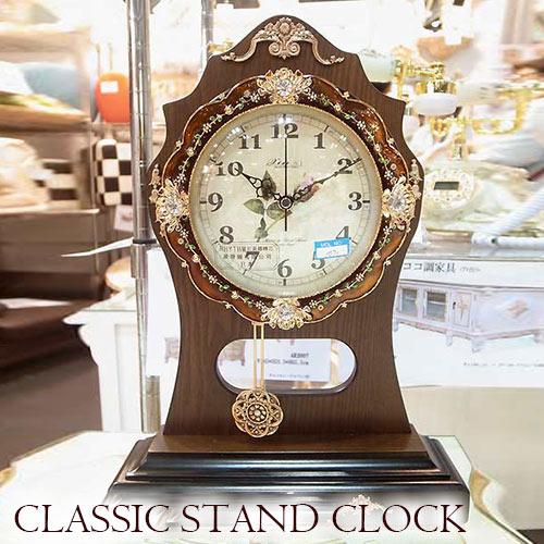 クラシック時計 クラシック置き時計(振り子付き) 時計 壁掛け おしゃれ ウォールクロック