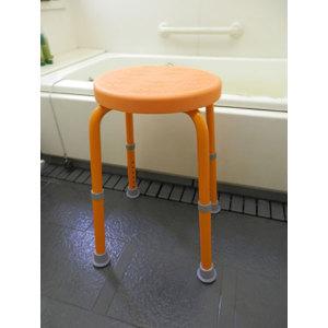 ・メーカー直送/福浴回転シャワーチェアープチトール オレンジ脚