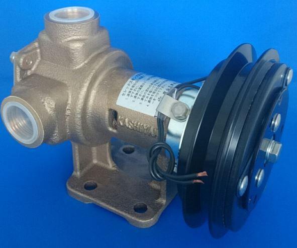 樫山工業 KP-100-BCH セレックスポンプ 電磁クラッチ付 24V 口径25mm 海水 汚水 KP100