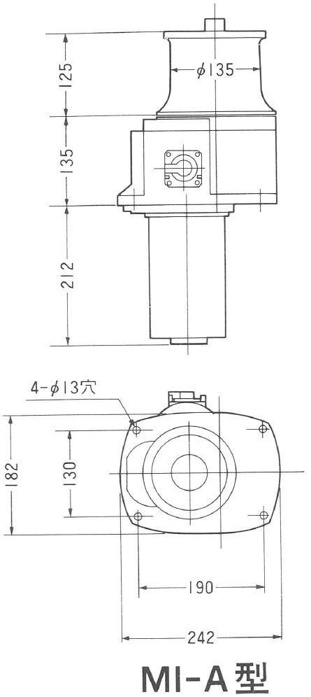岩崎電機工業 ヤングローラー MI-A 24V 750W
