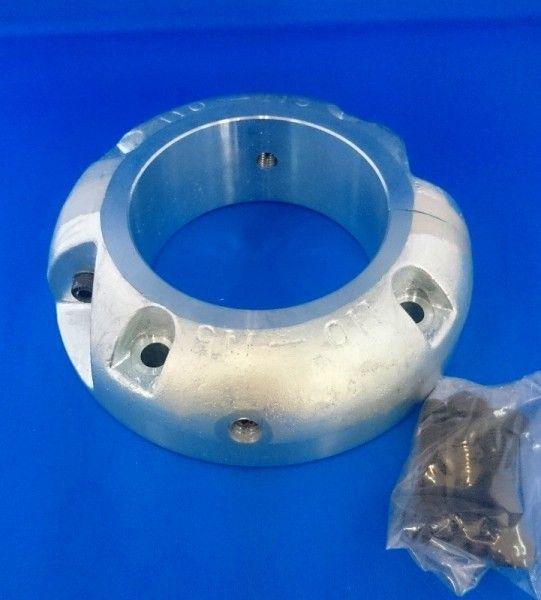 シャフト亜鉛 ペラ亜鉛 プロペラ用 ペラ軸 シャフト保護亜鉛 120mm 二つ割