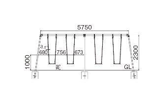 ASANO 浅野金属工業 ブランコセット(中型4連) AK23546