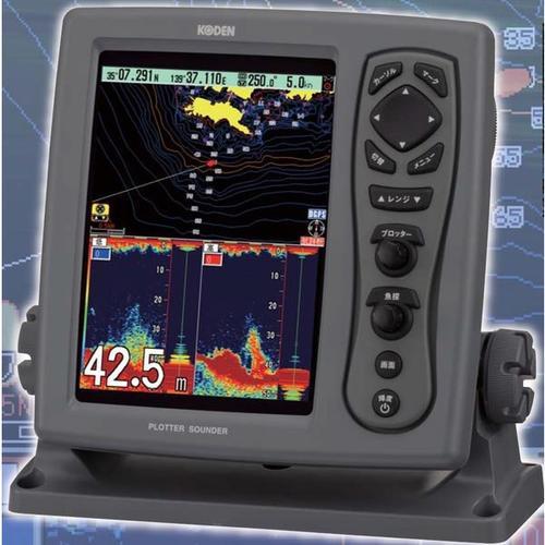 お魚サイズ・newpec全国地図・デジタル魚探 CVG-87B DGPSセンサー付 1KW【送料無料】