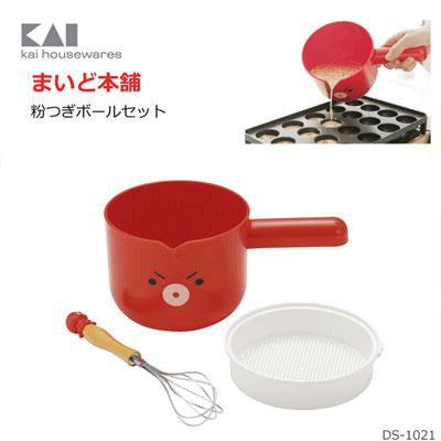 Y Nets Takoyaki Bowl Muddler Powder Sieve Made In