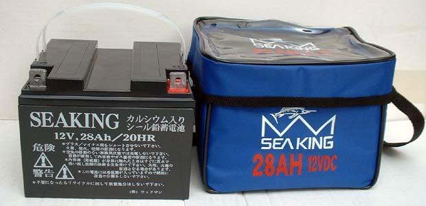 シーキング バッテリー 12V/28Ah カルシウムバッテリー メンテナンスフリー ウッドマン