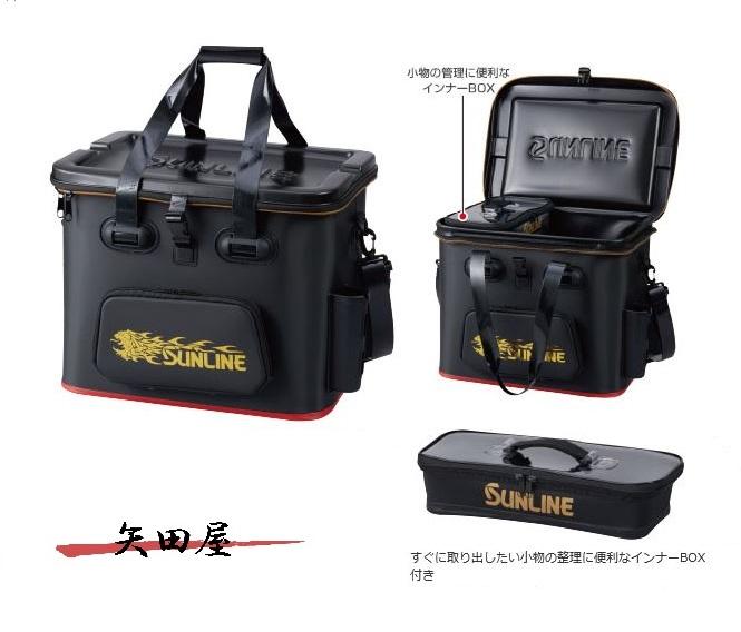 サンライン 獅子タックルバッグ 45cm ブラック SFB-0635 メーカー希望小売価格25%off