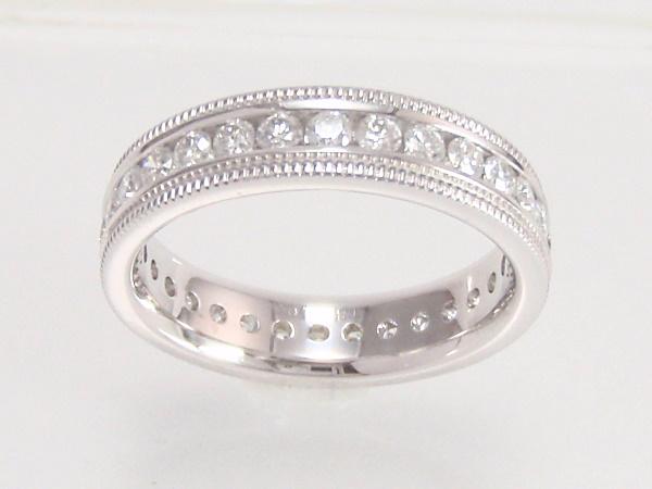 指輪 750 K18 WG ホワイトゴールドダイヤモンドエタニティリング メレダイヤ 1.00ct 【中古】【程度A】【美品】