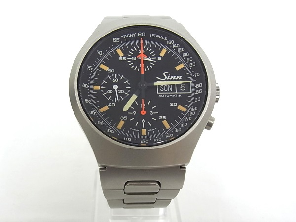 Sinn ジン 157.M クロノグラフ デイデイト オートマチック メンズ 腕時計 【中古】【程度A】【美品】
