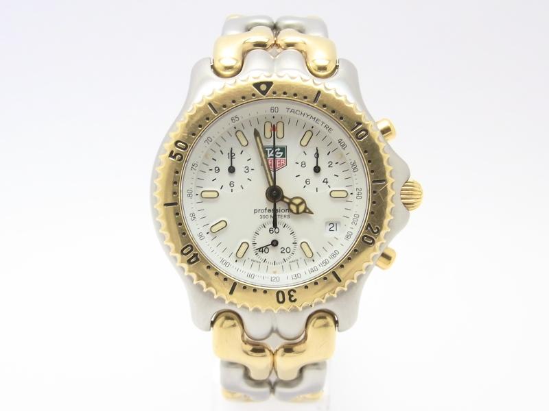 【中古】【程度B】【お買い得価格】タグホイヤー S/elシリーズ クロノグラフ CG1120-0 セル メンズ コンビ プロフェッショナル200m クオーツ 腕時計