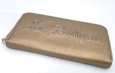 【送料無料】【代引手数料無料】【中古】ブルガリ BVLGARIラウンドファスナー 長財布ゴールド サイフ