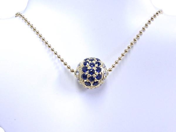 【中古】【程度A】【美品】サザンクロス Southern Cross ネックレスK18 YG イエローゴールドダイヤモンド 1.15ct サファイア 2.03ct