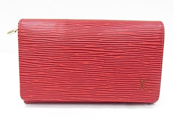 ルイヴィトン Louis Vuitton L字ファスナー財布 エピ 赤 レッド M6350Eポルトモネビエトレゾール【中古】【程度A+】【極上美品】