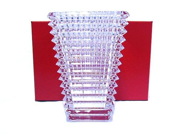 【新品・未使用】【程度N】【質屋出品】バカラ Baccarat アイベース 花瓶Sサイズ 箱付 クリスタル スクエア 2612989