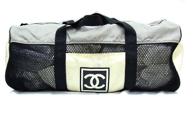 【中古品】【良品】【程度B】シャネル CHANEL スポーツライン ボストンバッグナイロン メッシュ 旅行バッグ ココマーク