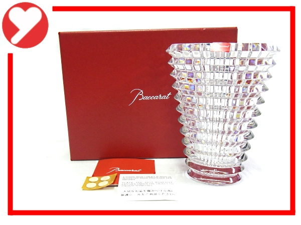 【新品・未使用】【程度N】【質屋出品】バカラ Baccarat アイベース 花瓶Sサイズ 箱付 クリスタル ラウンド 2103679