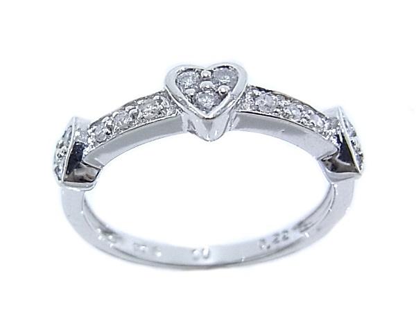 750 K18 WG ホワイトゴールド 指輪 ダイヤ0.22ct ノーブランド リング【中古】【程度A】【美品】