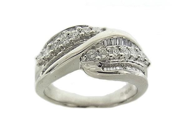 指輪 Pt900 プラチナ ダイヤリング 合計0.80ct【中古】【程度A】【質屋出品】【新品仕上げ済み】【ノーブランド】