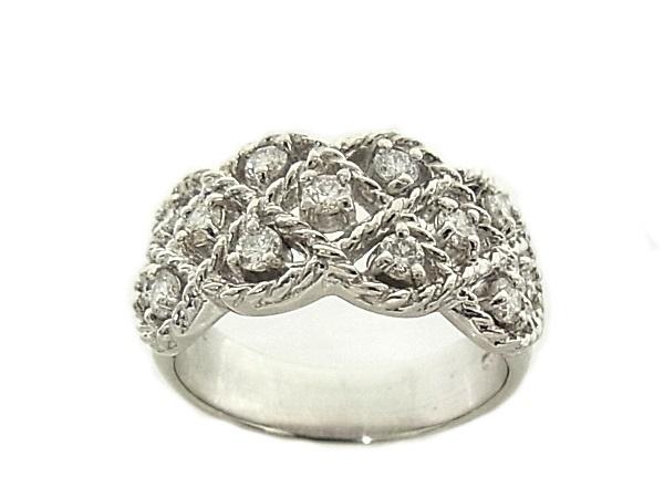 指輪 Pt900 プラチナ ダイヤリング 合計0.62ct【中古】【程度A】【質屋出品】【新品仕上げ済み】【ノーブランド】