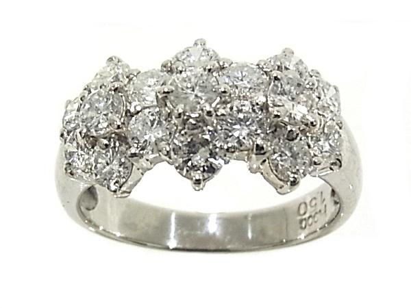 指輪 Pt900 プラチナ ダイヤリング 合計1.50ct【中古】【程度A】【質屋出品】【新品仕上げ済み】【ノーブランド】