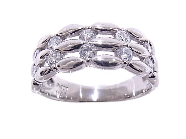指輪 Pt900 プラチナ ダイヤリング 合計0.50ct【中古】【程度A】【質屋出品】【新品仕上げ済み】【ノーブランド】