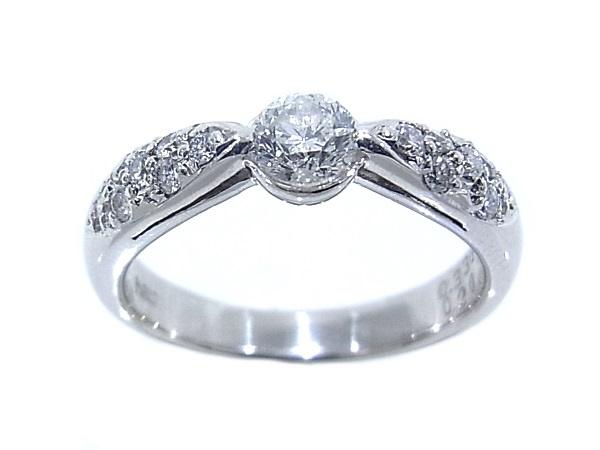 指輪 Pt900 プラチナ ダイヤリング 合計0.536ct中央ダイヤ0.336ct【中古】【程度A】【質屋出品】【新品仕上げ済み】【ノーブランド】