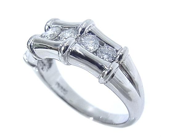 指輪 Pt900 プラチナ ダイヤリング 合計0.51ct【中古】【程度A】【質屋出品】【新品仕上げ済み】【ノーブランド】