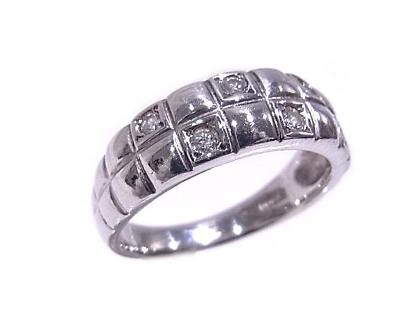 指輪 Pt900 プラチナ ダイヤリング 合計0.15ct【中古】【程度A】【質屋出品】