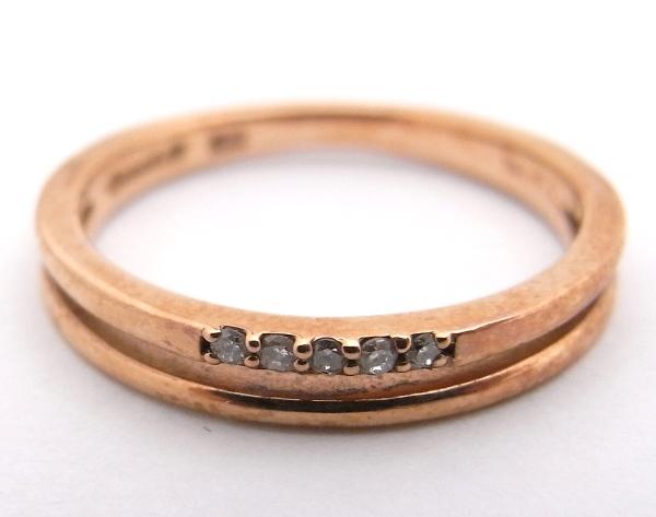 【質屋出品】【中古】【程度A-】【ノーブランド】カナル4℃ canal4℃指輪 リング K10 PG ピンクゴールドダイヤモンド