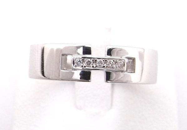 【中古】【程度A】K10WG ホワイトゴールド 指輪 ダイヤモンド ファッションリングノーブランド リング
