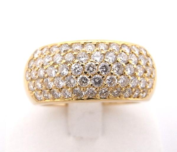 K18YG イエローゴールド 指輪 ダイヤモンド 1.68ctファッションリング デザインリングノーブランド リング【中古】【程度A】
