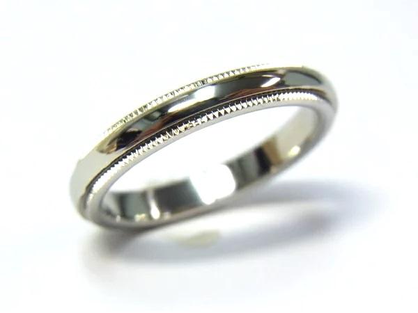 【中古】【程度A】【美品】ティファニー TIFFANY&Co. Pt950 プラチナ ミルグレイン バンドリング #12.5 デザインリング 指輪