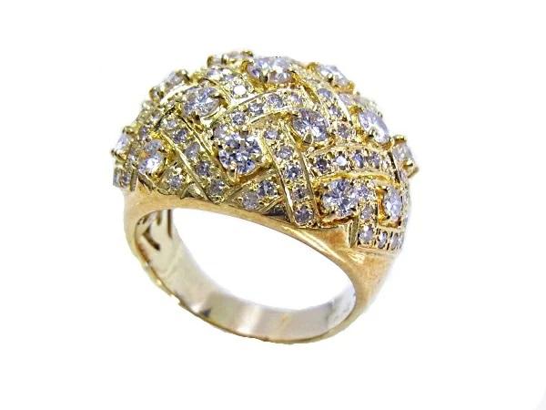 K18 YG イエローゴールド 指輪 ダイヤ2.00ct ノーブランド リング サイズ16号【中古】【程度A】【美品】