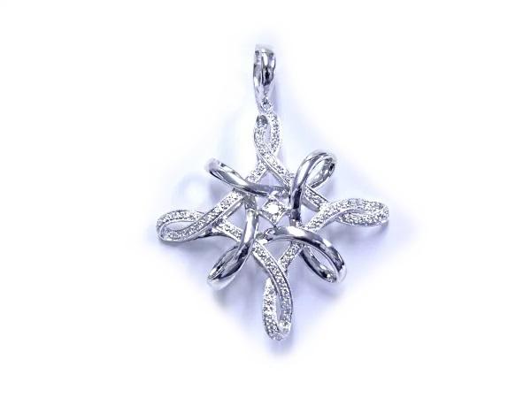 【スーパーセール】 【】【質屋出品】【程度A】K18/K14 WG ホワイトゴールドペンダント ダイヤモンド, ノサカマチ:b5466ae9 --- jeuxtan.com