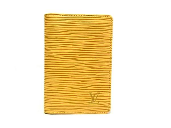 【中古】【程度A】【美品】ルイヴィトン LOUIS VUITTON エピ M63589オーガナイザードゥポッシュ 名刺入れカードケース イエロー 黄色